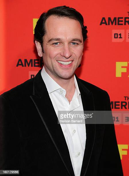 Matthew Rhys attends FX's The Americans Season One New York Premiere at DGA Theater on January 26 2013 in New York New York