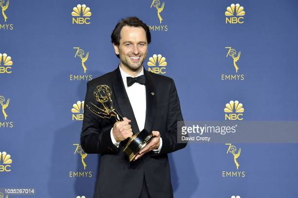 Matthew Rhys attends the 70th Emmy Awards Press Room at Microsoft Theater on September 17 2018 in Los Angeles California