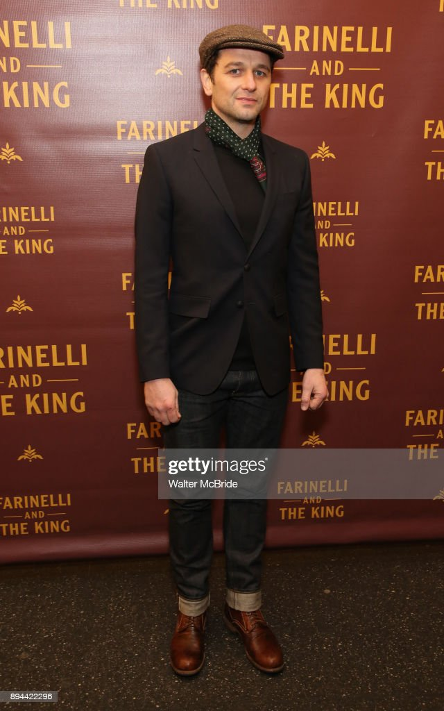 Matthew Rhys attends the Broadway opening night performance of 'Farinelli and the King' at The Belasco Theatre on November 17, 2017 in New York City.
