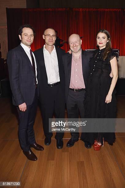 Matthew Rhys Joseph Weisberg Joel Fields and Keri Russell attend the 'The Americans' season 4 premiere on March 5 2016 in New York City