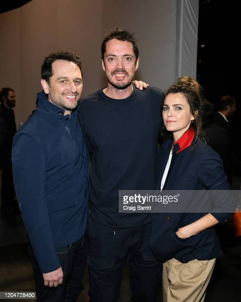 Matthew Rhys Marcus Wainwright and Keri Russell attend rag bone Fall/Winter 2020 at Skylight on Vesey on February 07 2020 in New York City