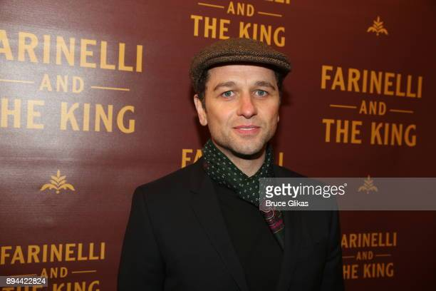 Matthew Rhys poses at the opening night of Farinelli and The King on Broadway at The Belasco Theatre on December 17 2017 in New York City