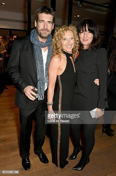 Matthew Robertson Kelly Hoppen and Davina McCall attend the anniversary party for Kelly Hoppen MBE celebrating 40 years as an Interior Designer at...
