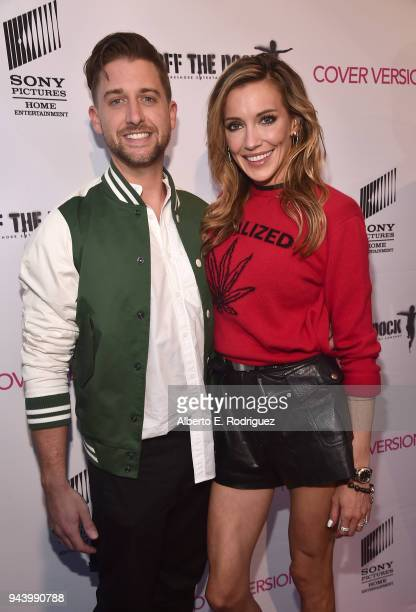 Matthew Rodgers and Katie Cassidy attend the premiere of Sony Pictures Home Entertainment and Off The Dock's Cover Versions at The Landmark Regent on...