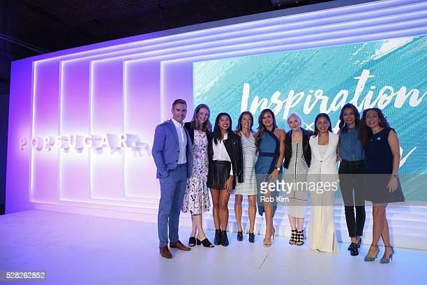 Matthew Rodrigues Hannah Bronfman Anna Renderer Brandi Milloy Lindsay Miller Meg Cuna Jamie Chung and Lisa Sugar attend the 2016 PopSugar NewFront...