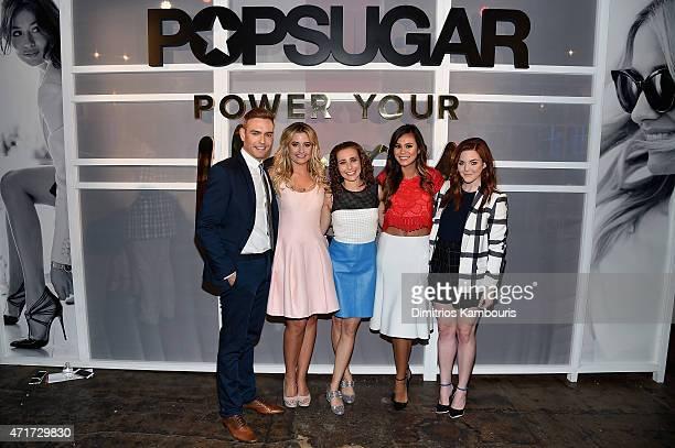 Matthew Rodrigues Kirbie Johnson Lisa Sugar Brandi Milloy and Allison McNamara attend the POPSUGAR Digital Newfront 2015 at Cedar Lake on April 30...
