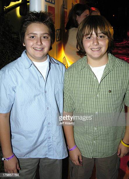 Matthew Romano and Gregory Romano during Everybody Loves Raymond Celebrates 200th Episode at Spago in Beverly Hills California United States