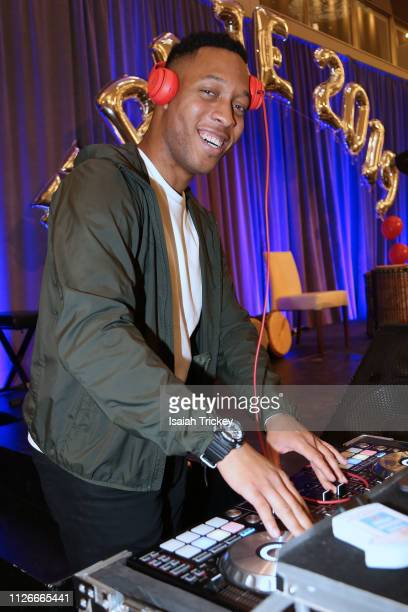DJ Matthew Romeo performs during the 5th Annual Black Arts and Innovation Expo at Toronto's Arcadian Court on February 21 2019 in Toronto Canada