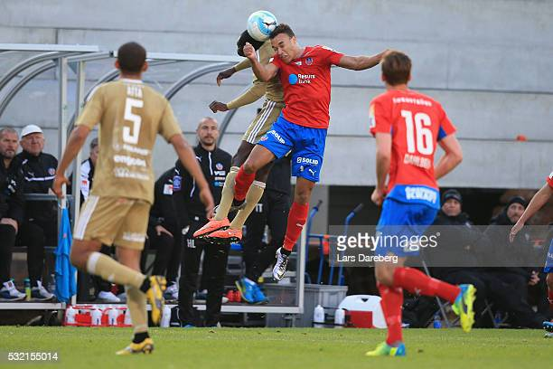 Matthew Rusike of Helsingborgs IF during the Allsvenskan match between Helsingborgs IF and Ostersunds FK at Olympia on May 18 2016 in Helsingborg...
