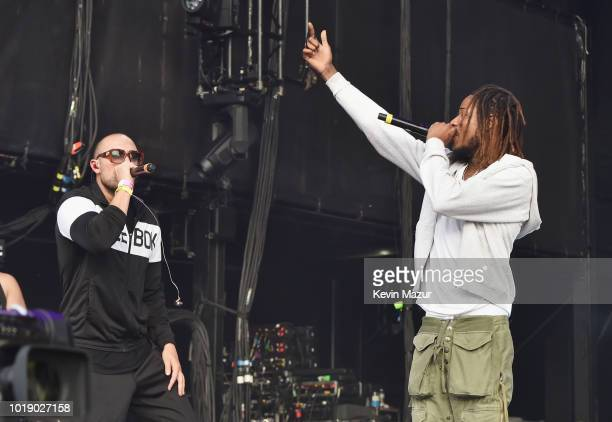 Matthew Russell of Cheat Codes and Fetty Wap perform onstage during Day 1 of Billboard Hot 100 Festival 2018 at Northwell Health at Jones Beach...