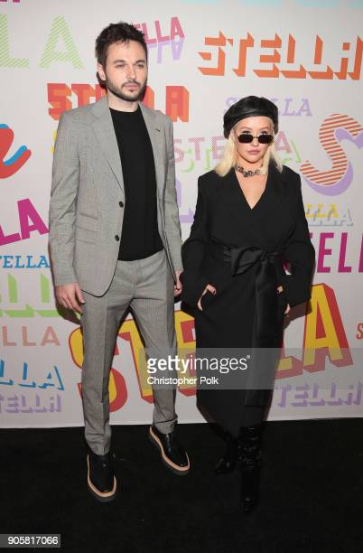 Matthew Rutler and Christina Aguilera attend Stella McCartney's Autumn 2018 Collection Launch on January 16 2018 in Los Angeles California