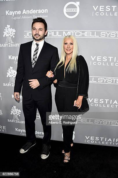Matthew Rutler and recording artist Christina Aguilera attend the 5th Annual Baby2Baby Gala at 3LABS on November 12 2016 in Culver City California
