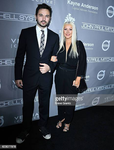 Matthew Rutler Christina Aguilera arrives at the 5th Annual Baby2Baby Gala at 3LABS on November 12 2016 in Culver City California