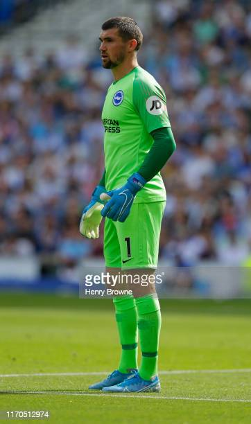 Matthew Ryan of Brighton and Hove Albion during the Premier League match between Brighton Hove Albion and Southampton FC at American Express...