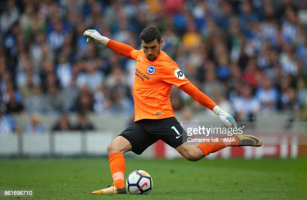 Matthew Ryan of Brighton and Hove Albion during the Premier League match between Brighton and Hove Albion and Everton at Amex Stadium on October 15...