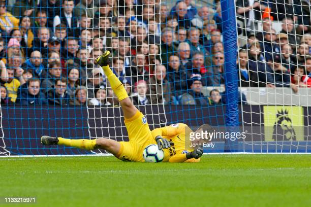 Matthew Ryan of Brighton Hove Albion during the Premier League match between Brighton Hove Albion and Huddersfield Town at American Express Community...