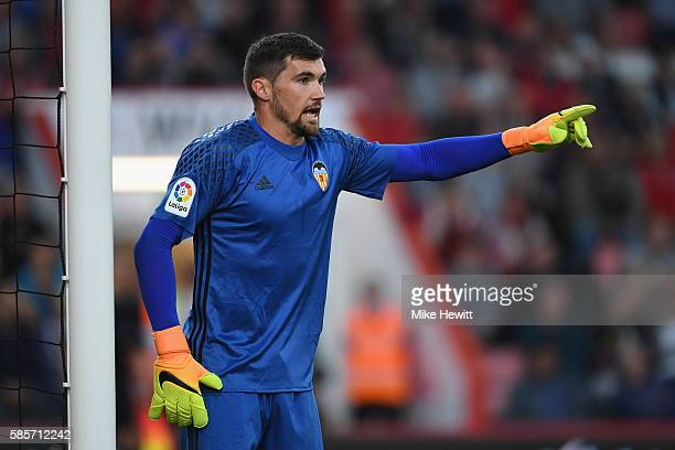 Matthew Ryan of Valencia in action during a preseason friendly between Bournemouth and Valencia at the Vitality Stadium on August 3 2016 in...