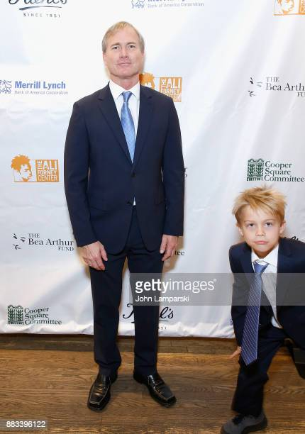 Matthew Saks and Brody Saks attend The Bea Arthur Residence Building dedication on November 30, 2017 in New York City.