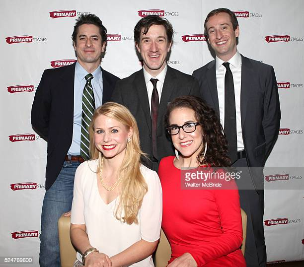 Matthew Saldivar Carson Elrod Eric Clem Liv Rooth and Jenn Harris attending the Opening Night After Party for the Primary Stages production of 'All...