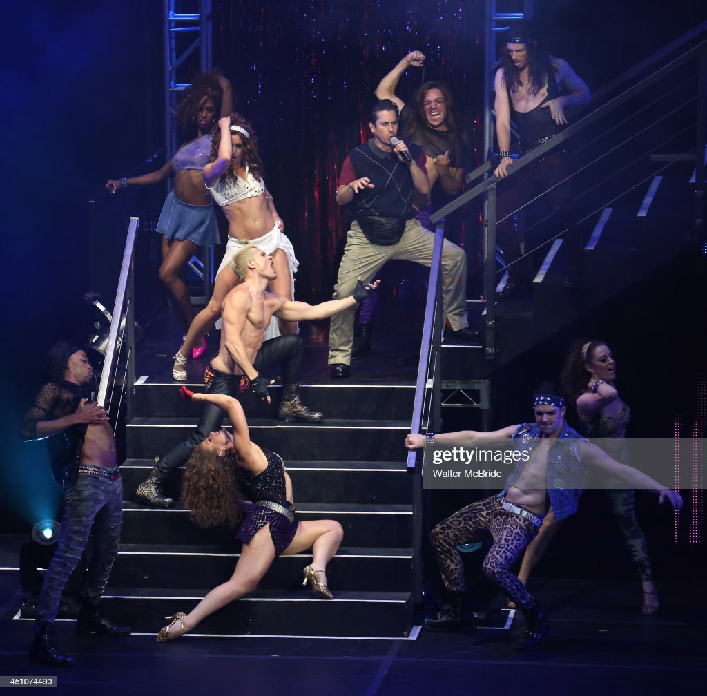 Matthew Saldivar with cast perform in the Broadway Cares/Equity Fights AIDS' Broadway Bares 24 'Rock Hard!' at Hammerstein Ballroom on June 22, 2014 in New York City.