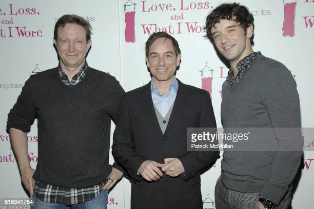 Matthew Schneck Sam Breslin Wright and Michael Urie attend LOVE LOSS AND WHAT I WORE Welcomes a New Cast at Marseille on February 4 2010 in New York...