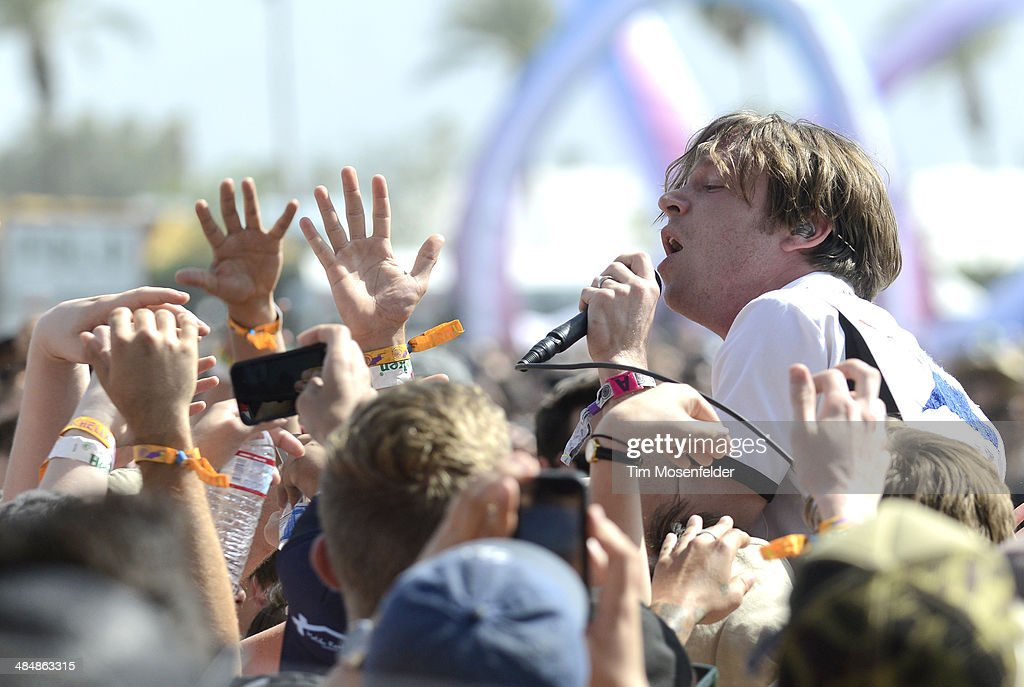 Matthew Schultz of Cage the Elephant performs as part of the Coachella Valley Music and Arts Festival at The Empire Polo Club on April 12, 2014 in Indio, California.