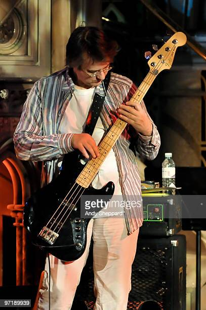 Matthew Seligman performs with Thomas Dolby and his band at Union Chapel on February 28 2010 in London England