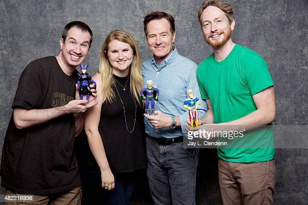Matthew Senreich Jillian Bell Bryan Cranston and Zeb Wells of 'Super Mansion' pose for a portrait at ComicCon International 2015 for Los Angeles...