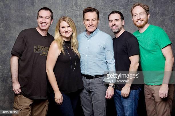 Matthew Senreich Jillian Bell Bryan Cranston Joe Mad and Zeb Wells of 'Super Mansion' pose for a portrait at ComicCon International 2015 for Los...
