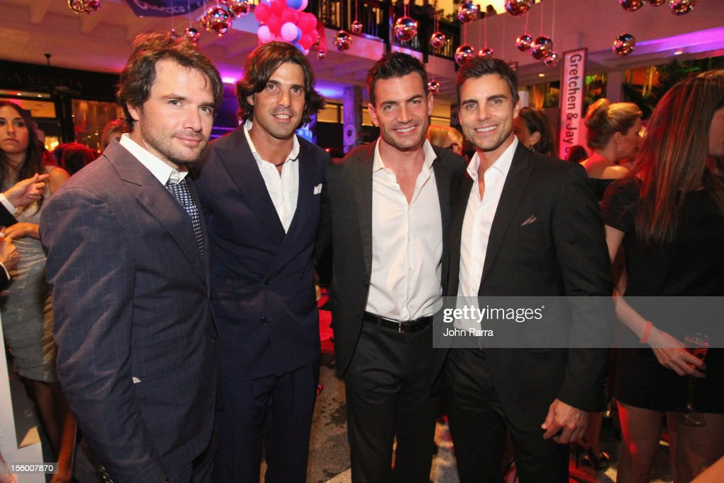 Matthew Settle, Nacho Figueras, Aiden Turner, and Colin Egglesfield attend Destination Fashion 2012 To Benefit The Buoniconti Fund To Cure Paralysis, the fundraising arm of The Miami Project to Cure Paralysis, on November 10, 2012 at Bal Harbour Shops in Miami, Florida.