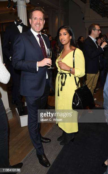 Matthew Shaw and Tina Daheley attend the launch of the Whole Man Academy at Gieves Hawkes on March 12 2019 in London England
