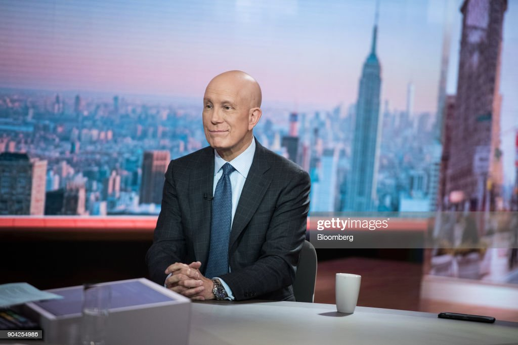 Matthew Shay, president and chief executive officer of the National Retail Federation Inc., smiles during a Bloomberg Television interview in New York, U.S., on Friday, Jan. 12, 2018. The final numbers are in, and the past holiday season was indeed one of the best since the last recession. Sales rose 5.5 percent to $691.9 billion during November and December, the National Retail Federation said Friday. Photographer: Mark Kauzlarich/Bloomberg via Getty Images