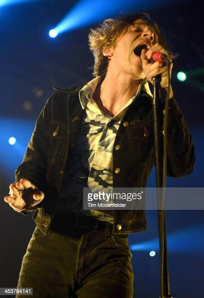 Matthew Shultz of Cage the Elephant performs as part of Radio 947's Electric Christmas at Sleep Train Arena on December 4 2013 in Sacramento...