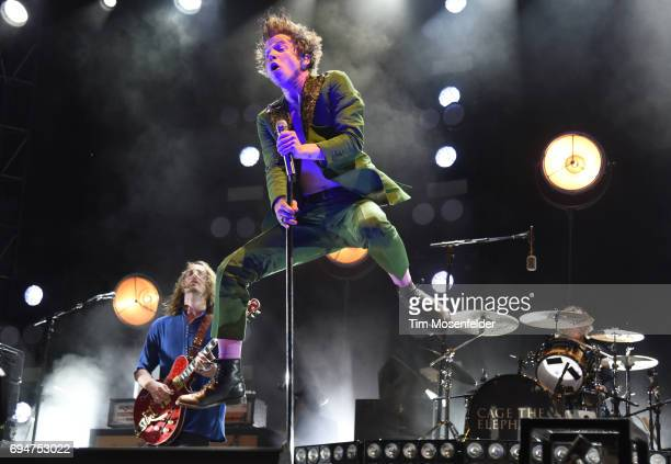 Matthew Shultz of Cage the Elephant performs during the 2017 Bonnaroo Arts and Music Festival on June 10 2017 in Manchester Tennessee