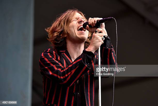 Matthew Shultz of Cage the Elephant performs onstage during Pilgrimage Music Cultural Festival on September 26 2015 in Franklin Tennessee