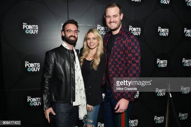 Matthew Silberman Senior Digital Editor at Town Country Magazine Lindsay Silberman and CEO of The Points Guy Brian Kelly attend The Points Guy...