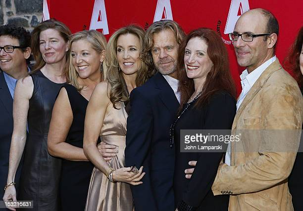 Matthew Silver, Hilary Hinkle, Mary B. McCann, Felicity Huffman , William H. Macy, Robin Spielberg and Jordan leigh attend the Atlantic Theater...