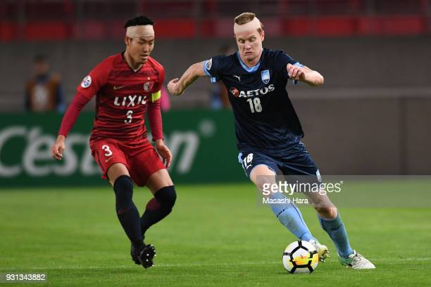 Matthew Simon of Sydney FC in action during the AFC Champions League Group H match between Kashima Antlers and Sydney FC at Kashima Soccer Stadium on...