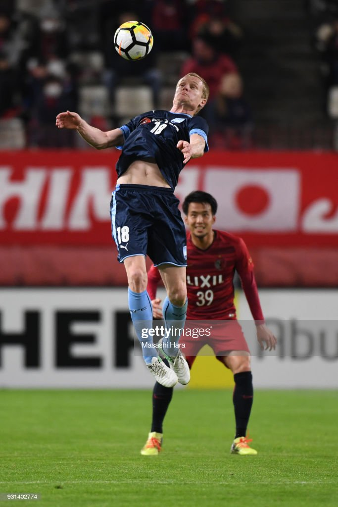 Matthew Simon of Sydney FC in action during the AFC Champions League Group H match between Kashima Antlers and Sydney FC at Kashima Soccer Stadium on March 13, 2018 in Kashima, Ibaraki, Japan.