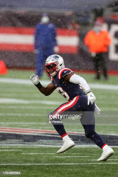 Matthew Slater of the New England Patriots follows the flow of play on Special Teams against the New York Jets at Gillette Stadium on January 3, 2021...