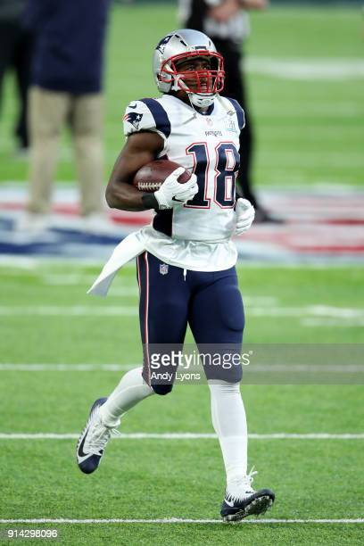 Matthew Slater of the New England Patriots warms up prior to the Super Bowl LII against the Philadelphia Eagles at US Bank Stadium on February 4 2018...