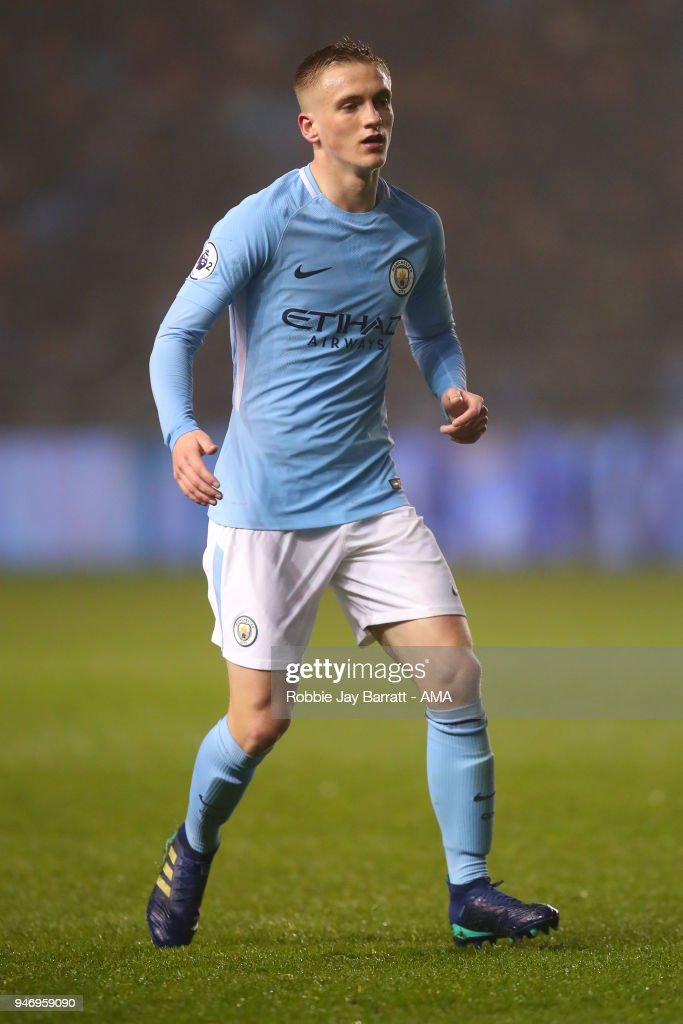 Matthew Smith of Manchester City during the Premier League 2 match at Manchester City Football Academy on April 13, 2018 in Manchester, England.