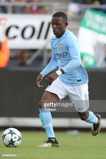 Matthew Smith of Manchester City U19 during the UEFA Youth League match between Feyenoord Rotterdam U19 and Manchester City U19 at the van Donge de...