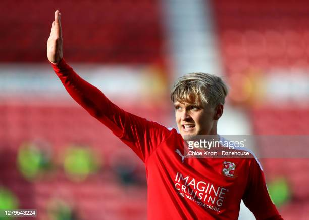 Matthew Smith of Swindon Town during the Sky Bet League One match between Swindon Town and AFC Wimbledon at County Ground on October 10, 2020 in...