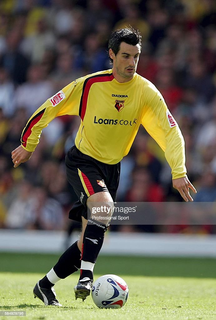 Matthew Spring of Watford in action during the Coca Cola Championship match between Watford and Sheffield United at Vicarage Road on September 17, 2005 in Watford, England.
