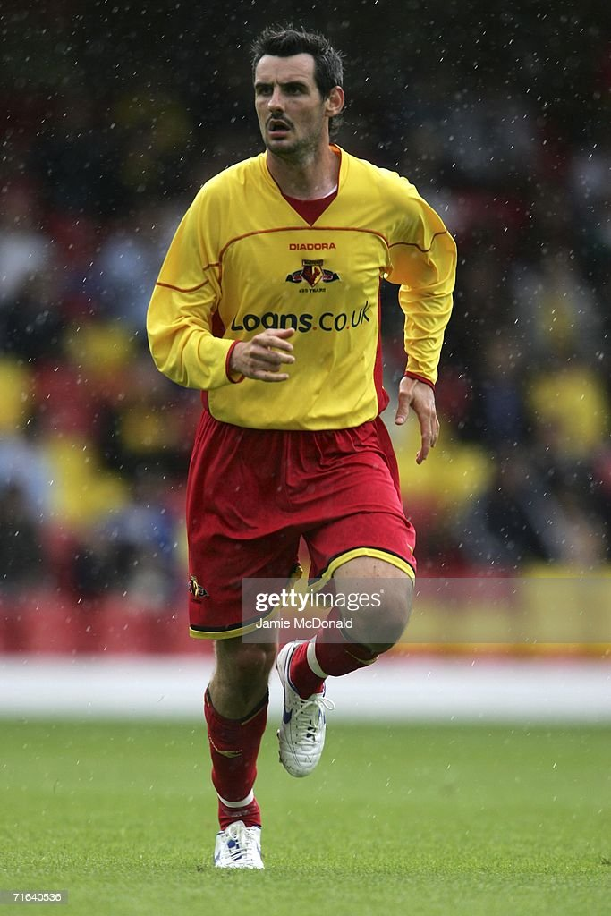 Matthew Spring of Watford in action during the pre-season match between Watford and Chievo Verona at Vicarage Road on August 13, 2006 in Watford, England.