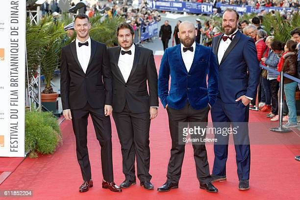 Matthew Stathers guest James Kermack and guest attend closing ceremony of 27th Dinard British Film Festival on October 1 2016 in Dinard France