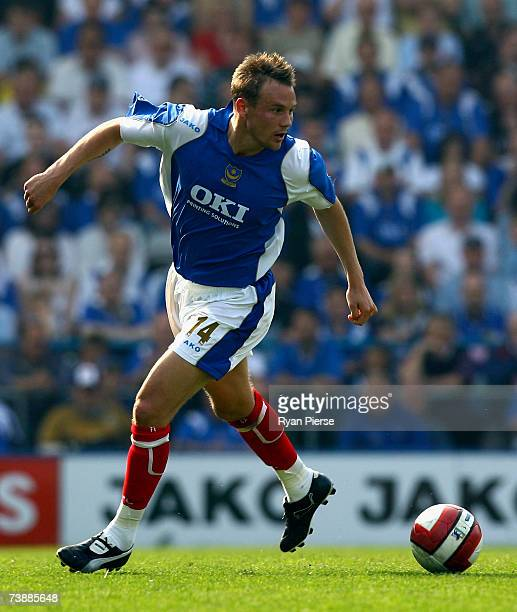 Matthew Taylor of Portsmouth in action during the Barclays Premiership match between Portsmouth and Newcastle Untied at Fratton Park on April 14 2007...