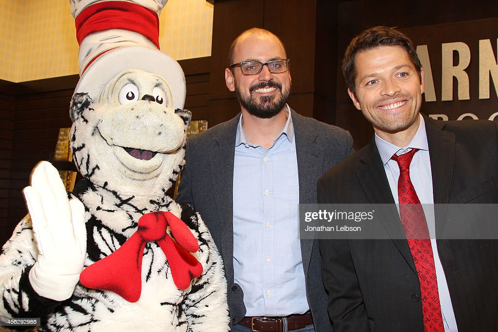 Matthew Thomas and Misha Collins attend the Matthew Thomas And Misha Collins Sign And Discuss Their New Book 'We Are Not Ourselves' at Barnes & Noble bookstore at The Grove on September 28, 2014 in Los Angeles, California.
