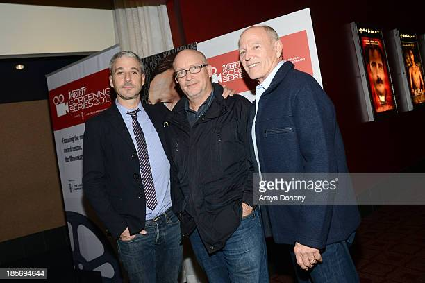 Matthew Tolmach Alex Gibney and Frank Marshall attend the 2013 Variety Screening Series Presents Sony Pictures Classics' The Armstrong Lie at...